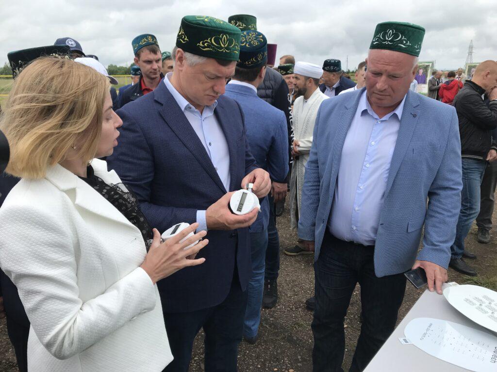 Заместитель  Председателя Правительства РФ Марат Хуснуллин ознакомился с счётчиками газа «DIO TECH»